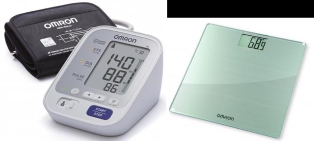 Omron M3-i Vérnyomásmérő + Omron Hn-288 Testsúlymérleg..